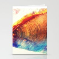 Rainbow Wave Stationery Cards