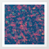 Isometric Grid No. 2 Art Print