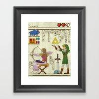 Hero-glyphics: Hyrule Hi… Framed Art Print