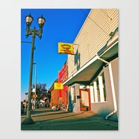 Canvas Print featuring Local pawn shop by Vorona Photography
