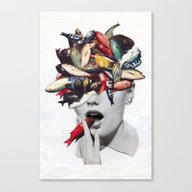 Canvas Print featuring Ωmega-3 by Eugenia Loli