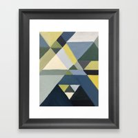 Angular Study Framed Art Print