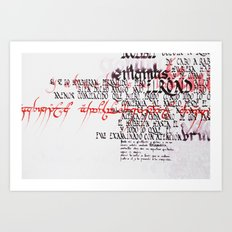 Calligraphic poster IV Art Print