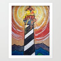Lighthouse Funk 1 Art Print