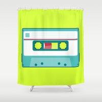 #54 Cassette Shower Curtain
