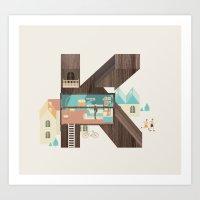 Resort Type - Letter K Art Print