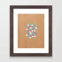 Triangle/wood Framed Art Print