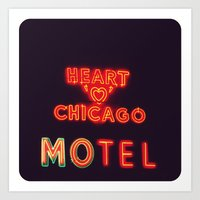 Heart 'O' Chicago Motel … Art Print