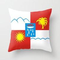 Sochi flag Throw Pillow
