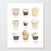 Cupcake Specimens Canvas Print