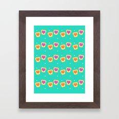 Sweet Lovers - Pattern Framed Art Print