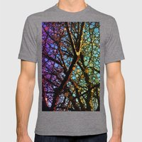 Colourful Tree Mens Fitted Tee Tri-Grey SMALL
