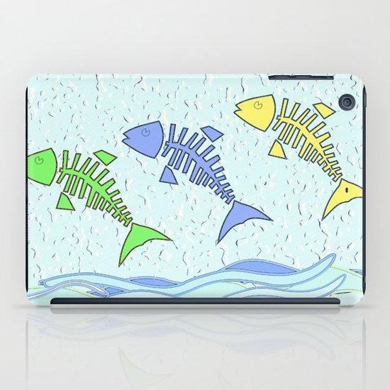 Fish jumping iPad Case