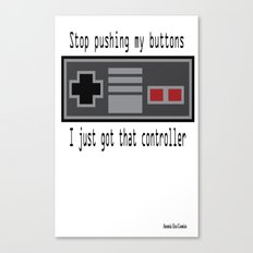 Pushing my buttons Canvas Print