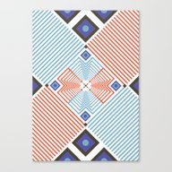 Canvas Print featuring Blue Red Stripes by FLATOWL