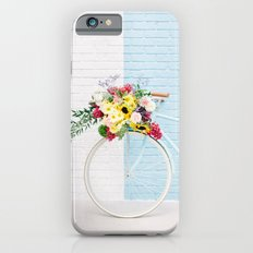 Floral Bicycle Stripe Wall Slim Case iPhone 6s