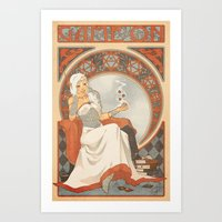 Game Nouveau Art Print