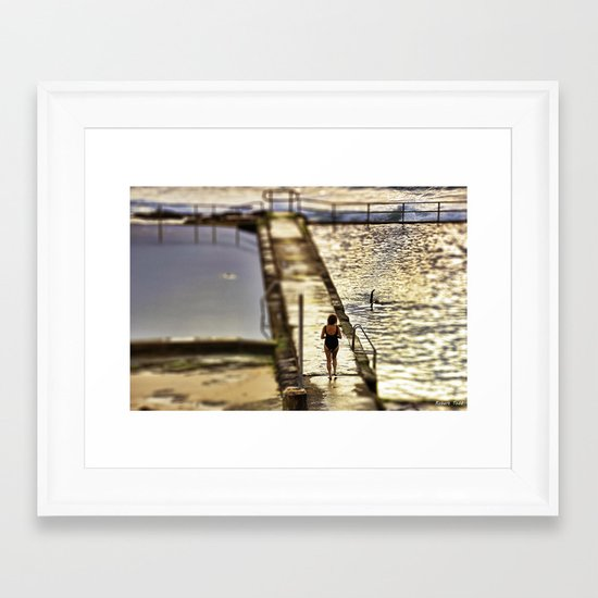 Time for a swim  Framed Art Print
