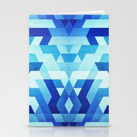 Abstract Geometric Trian… Stationery Cards
