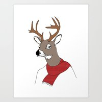 Fall Deer Art Print