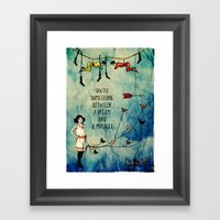 A dream and a miracle Framed Art Print