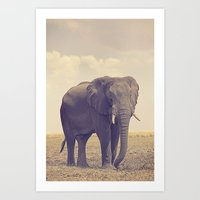 The Biggest Elephant In … Art Print