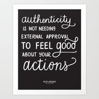 Authenticity // The Live… Art Print