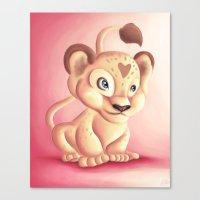 Lena Lioness Canvas Print