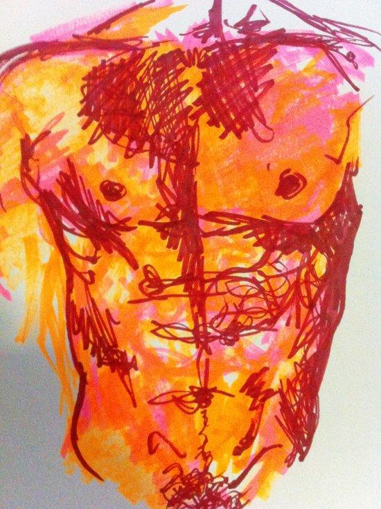 male torso summer Canvas Print