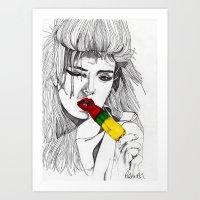 ICE LOLLY GIRL Art Print