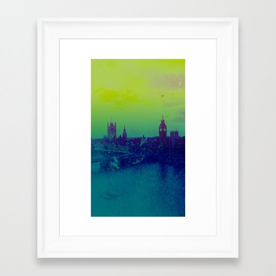 It's cold, but not gray Framed Art Print