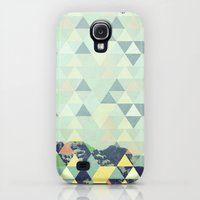 Galaxy S4 Cases featuring Triangle Mountain II by Metron