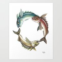 Circle Of Fish Art Print
