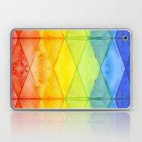 Abstract Rainbow Watercolor Pattern Laptop & iPad Skin