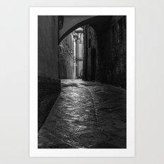 Wet Alley Art Print