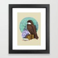 Little World Traveler Framed Art Print