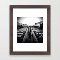 Gritty City railway Framed Art Print