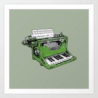 The Composition - G. Art Print