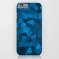 Blue Pixelated Geometric… iPhone 6 Slim Case
