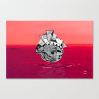Orb in sea Canvas Print