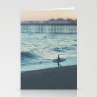 The Lone Surfer ...  Stationery Cards