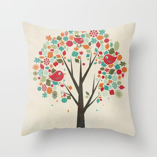 Home Birds Throw Pillow