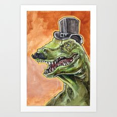 Dapper Dino Art Print