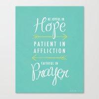 Romans 12:12 Canvas Print