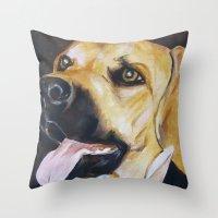 Mans Best Friend - Dog in Suit Throw Pillow