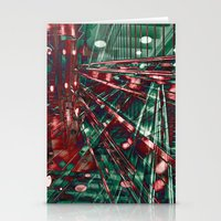 Abstract City Lines Stationery Cards