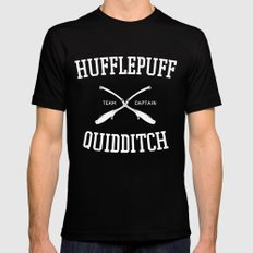Hogwarts Quidditch Team: Hufflepuff Mens Fitted Tee Black SMALL