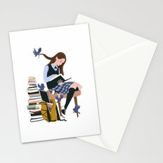 Dressed by Birds (White) Stationery Cards