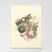 It's Indie Rock'n'Roll Stationery Cards