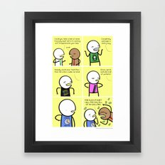 Antics #059 - one man focus group Framed Art Print